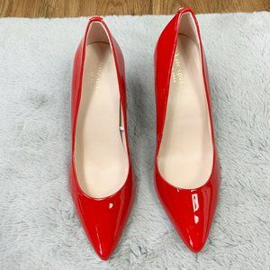 Kate Spade New York Vida Patent Leather Red Pumps